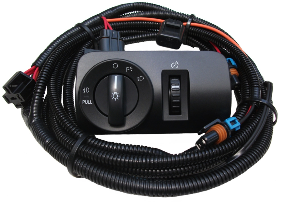 3450 v6 mustang fog light wiring & switch kit (2005 2009) starkey  at bayanpartner.co