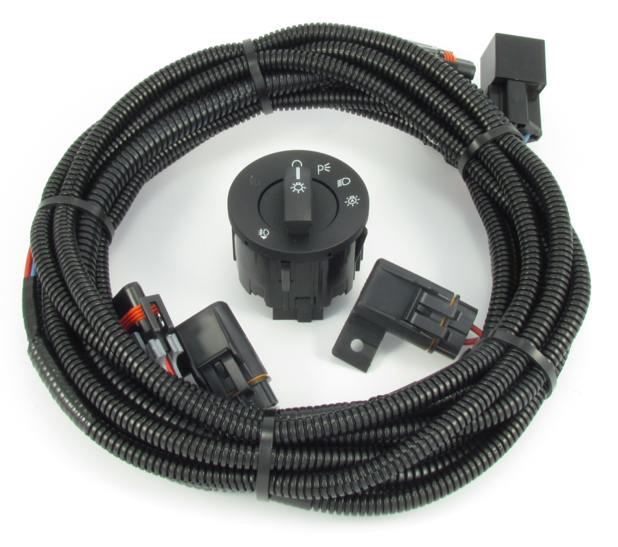 mustang fog light wiring & switch kit - fits v6 and boss 302 (2010-  click  to expand