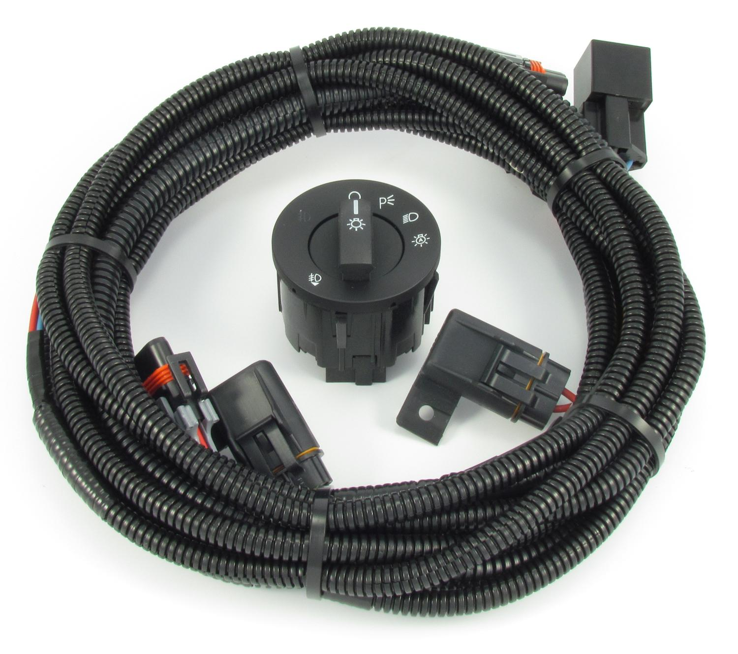 3551 fog light wiring & switch kit fits v6 and boss 302 (2013 2014)  at fashall.co