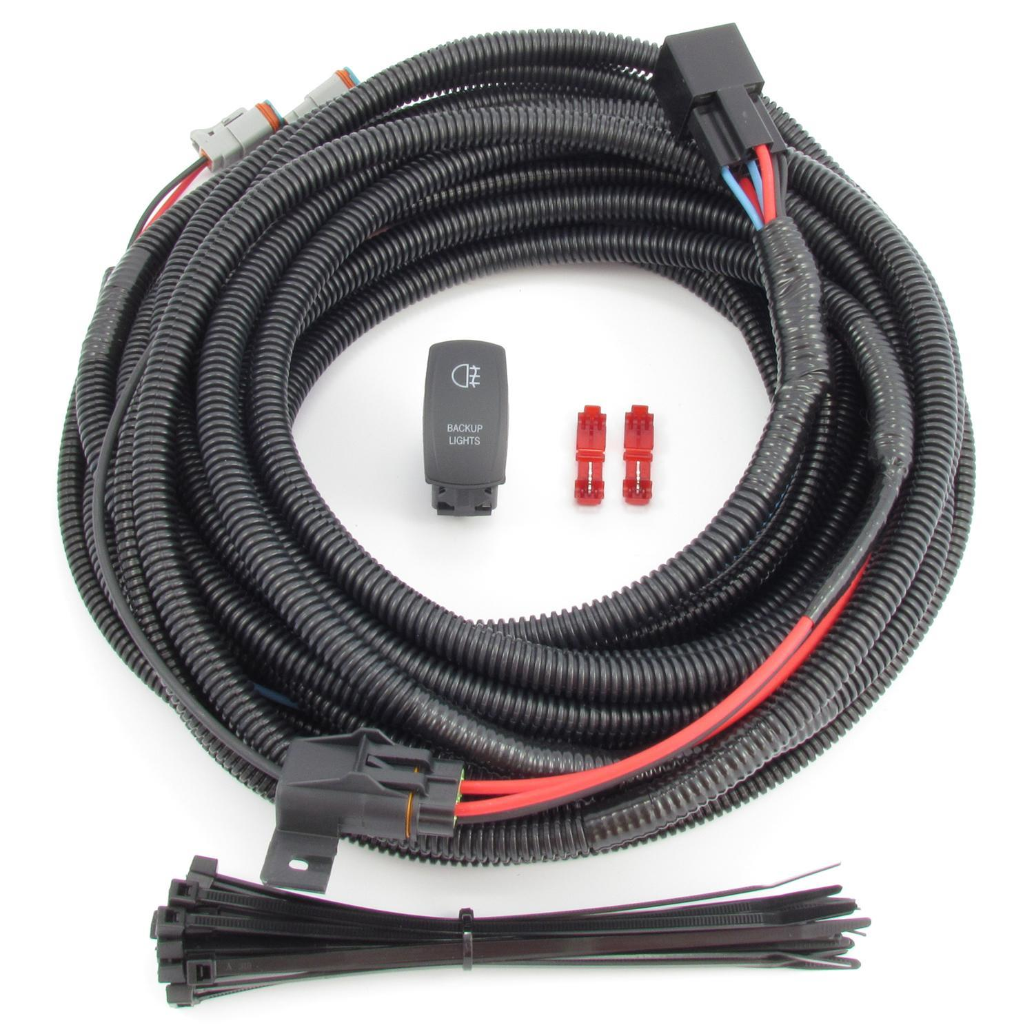 5051 backup reverse lighting wiring & switch kit fits any vehicle! independent control auxiliary lamp wire harness kit instructions at gsmx.co
