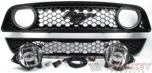 Mustang GT-Style Fog Light Conversion Kit - Fits V6 and GT/CS (2013-2014)